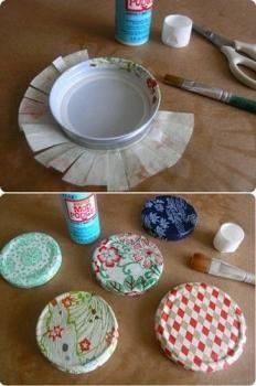 Cómo decorar las tapas de los tarros de cristal