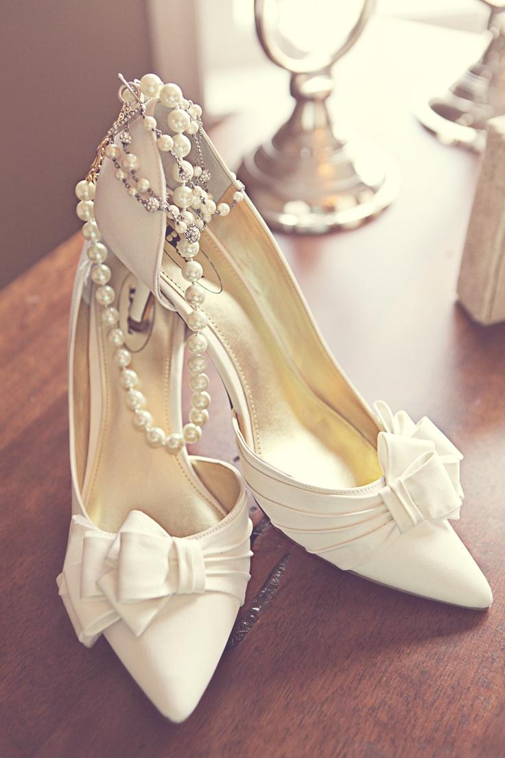 Gorgeous Ivory Wedding Shoes Photo Credit White Dress Photography