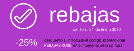 rebajas en productos de #peluqueria y #estetica.   -25% de descuento al introducir el código  promocional  REBAJAS-KOSEI en el momento de la compra     accede ahora a www.koseiprofesional.com