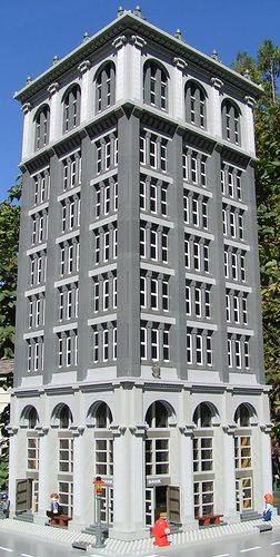 Neoclassical Bank Building constructed of Lego Bricks | Flickr