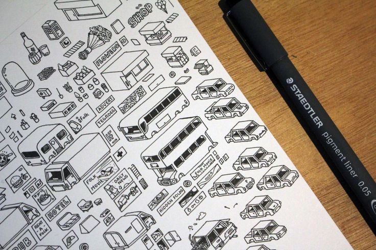 Hidden Folks - Illustration Elements - SpriteSheet - City Thematic
