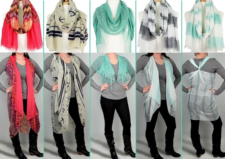 Check out some cute, unique ways to wear a scarf!