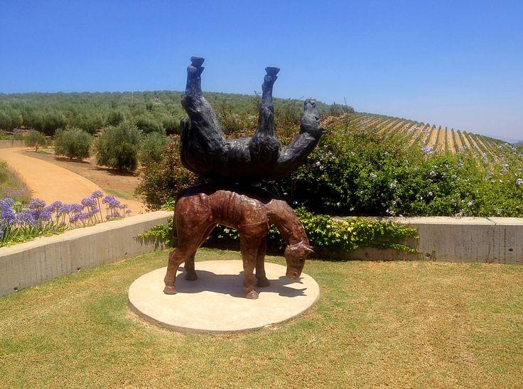 Horse Sculpture at Tokara Wine Estate ion Stellenbosch
