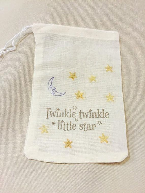 Twinkle Twinkle Little Star Favor Bags - Twinkle Little Star Birthday Party - Twinkle Little Star Baby Shower - Nursery Rhymes Party Set 10
