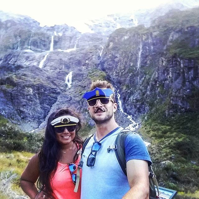 What a hike! Thank goodness for the forest because the sun was brutal. #brown #supertanned #sunburnt #hot #glacier #wanaka #robroyglacier #newzealand #adventures #theadventuresofjoandjake #captain #officer