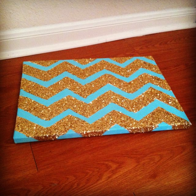 Chevron glitter canvas: Chevron Patterns, Wall Art, Quotes Wall, Paintings Canvas, Wall Posters, Glitter Chevron, Dorm Rooms, Chevron Glitter, Glitter Canvas