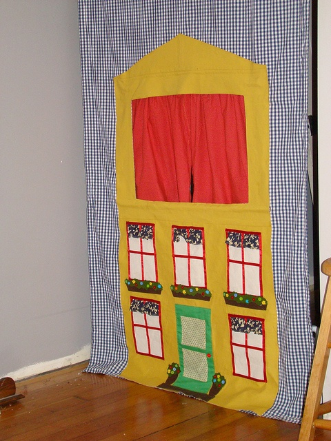 The puppet theater from Little Things to Sew. Love this one!