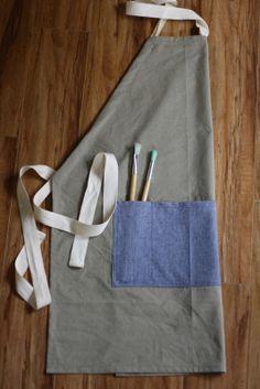 DIY: adjustable full apron for women or men