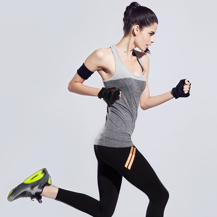 Women Sport Shirts Yoga Tops Sleeveless Vest Fitness Running Camisole Female Quick Dry Breathable Tank Tops