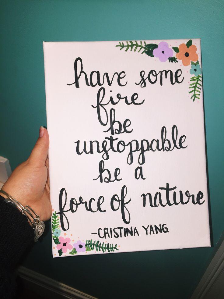 Cristina Yang Quotes. Greys Anatomy canvas