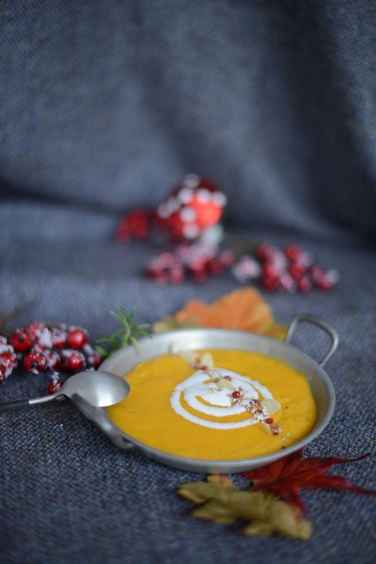 Velouté panais / orange / carotte de sable aux quatre-épices (sans gluten sans lactose) | vanessa pouzet le blog