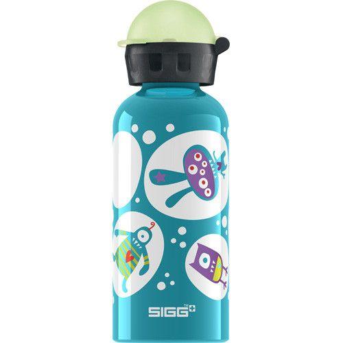 Sigg Water Bottle Glo Monster Teal .4 Liter