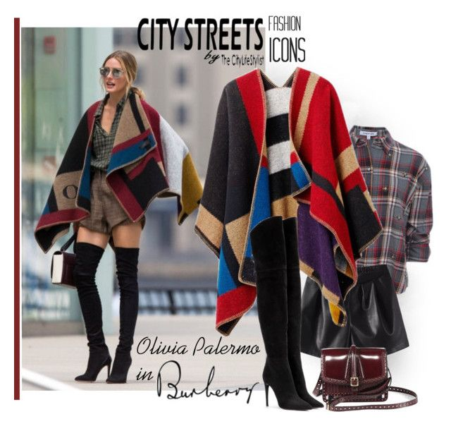 """Olivia Palermo in Burberry fall 2014"" by sella103 ❤ liked on Polyvore featuring Burberry, Elizabeth and James, City Streets and Miu Miu"