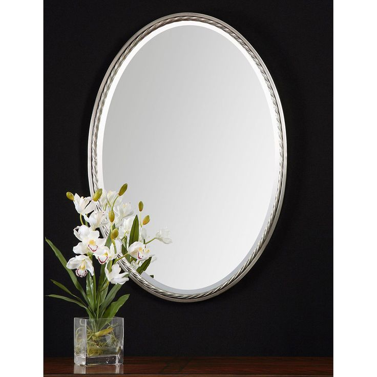 Photos Of Uttermost Casalina Nickel Oval Mirror