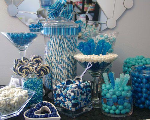 #candybar #candy #wedding #event #party #candycrush #blueandwhitecandybar