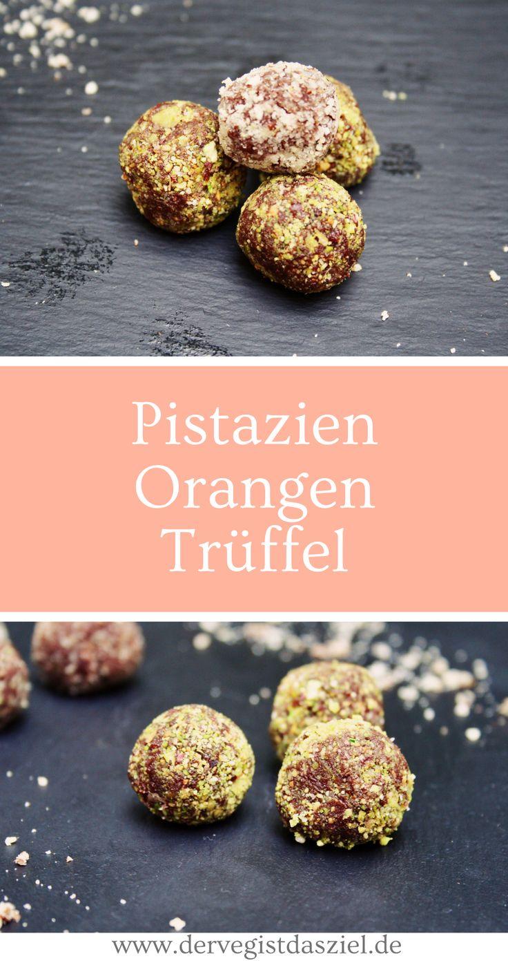 Pistazien-Orangen-Trüffel, vegan, Rohkost, Süßigkeiten, Rezept, Deliciously Ella