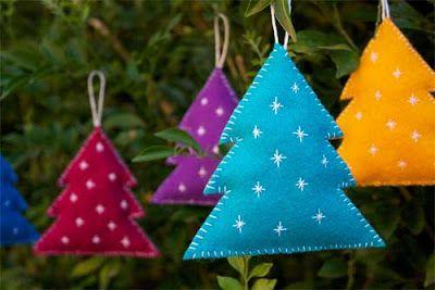 Cómo hacer adornos para el árbol de Navidad con fieltro ~ Solountip.com #decoraciondecocinasmanualidades