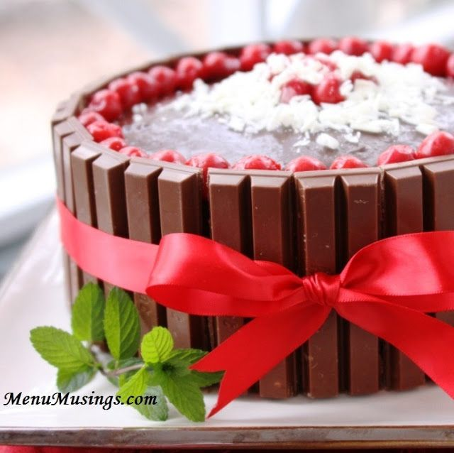 Chocolate Covered Cherries Cake - just spectacular.  My son's birthday cake of choice two years in a row! Step-by-step photo tutorial.