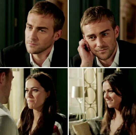 When a guy is in love you can see it by his eyes. When a girl is in love you can see it by her smile.  The Royals Season 3