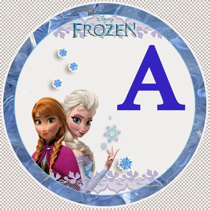 Frozen alphabet letters for printable party banner.....free printable