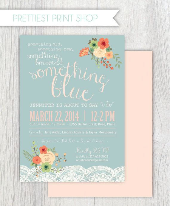 Printable bridal shower invitation by PrettiestPrintShop on Etsy