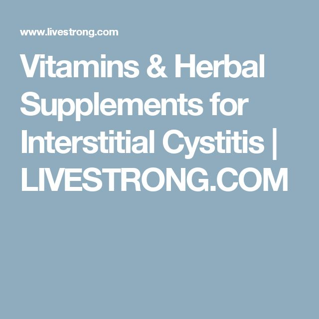 Interstitial Cystitis Treat Naturally