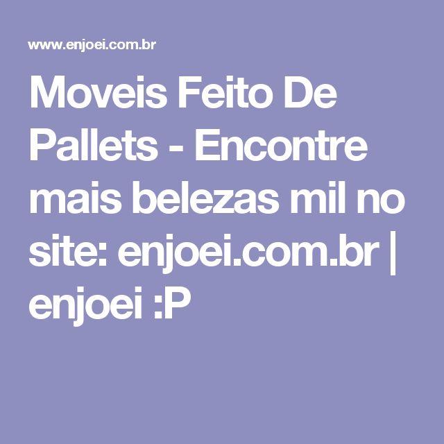 Moveis Feito De Pallets - Encontre mais belezas mil no site: enjoei.com.br | enjoei :P