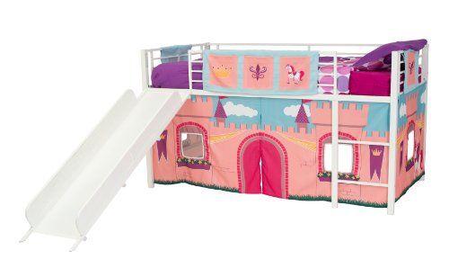 Dorel Home Products Curtain Set for Junior Loft Bed, Princess Castle //http://bestadjustablebed.us/product/dorel-home-products-curtain-set-for-junior-loft-bed-princess-castle/