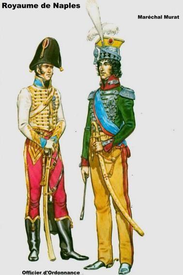 Regno di Napoli - Maresciallo Murat e Ufficiale di Ordinanza