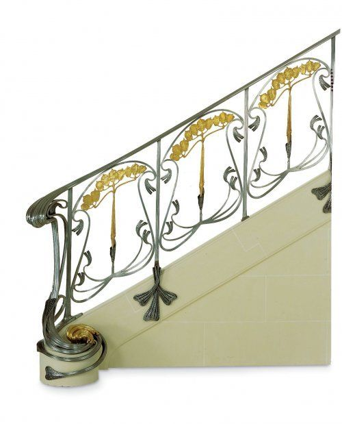 24 best atc art nouveau d coration int rieure images on pinterest martin o 39 malley stained - Decoration rampe escalier ...