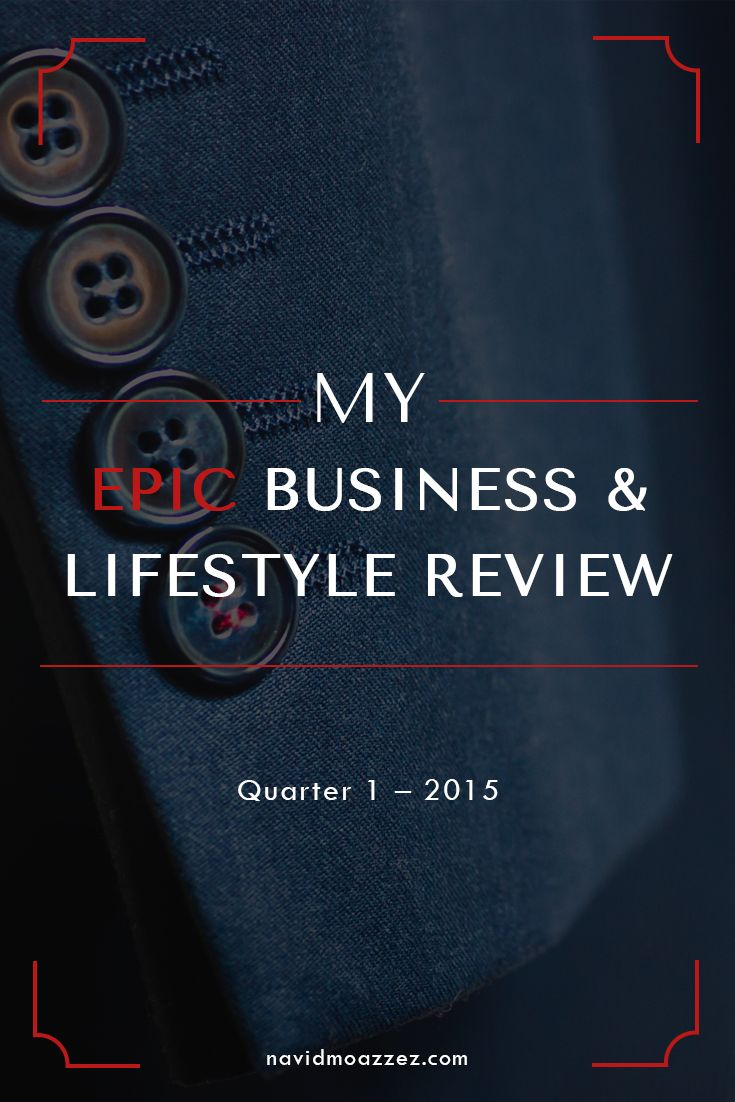 After the success of my 2014 annual business and lifestlye review, I decided to break it down into quarterly reviews for this year. Let's open in style with me Epic Business & Lifestyle Review!