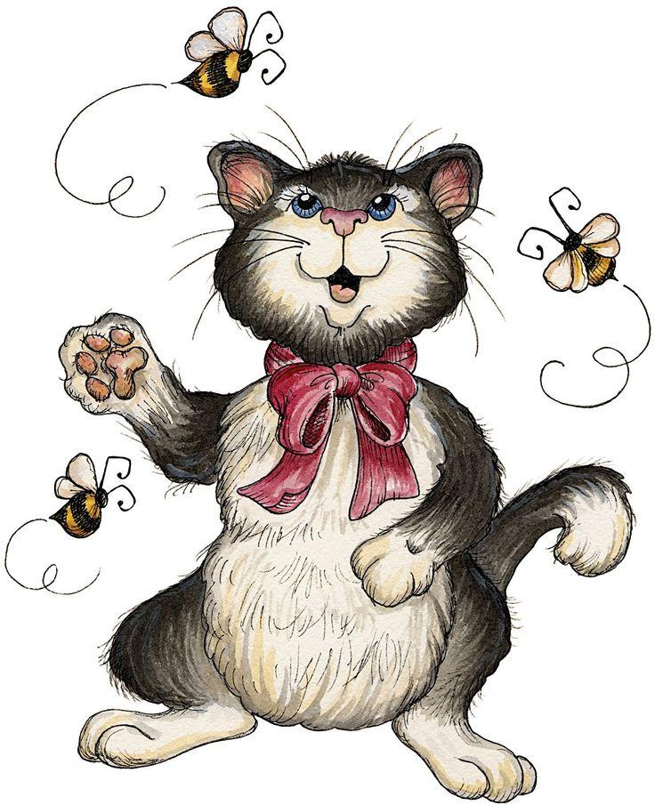 Картинка смешной кот для детей, день