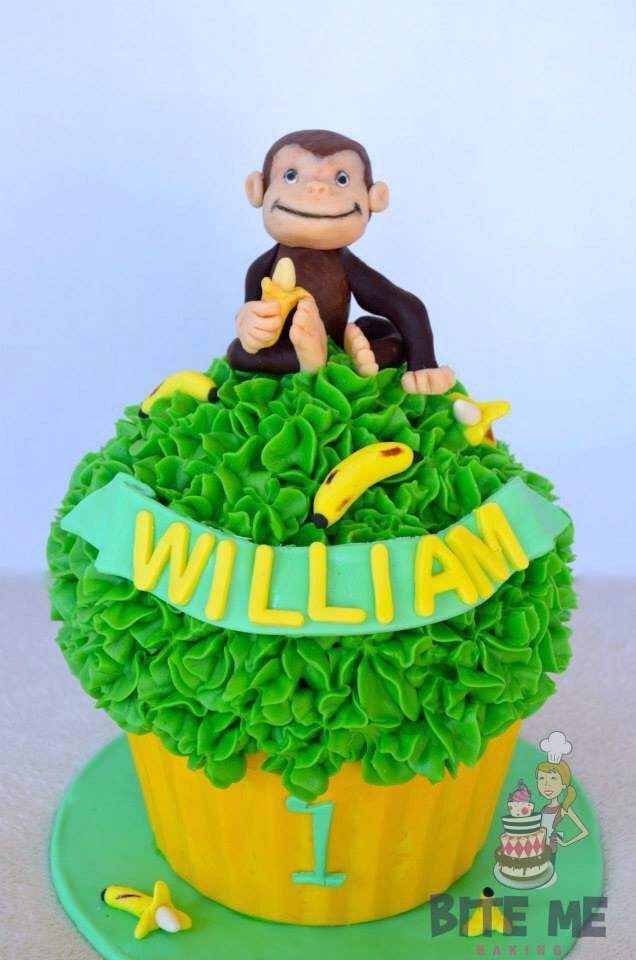 Monkey giant cupcake