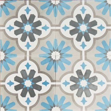 I want these!!! ♥ the colours.  moroccan flower. encaustic tiles.