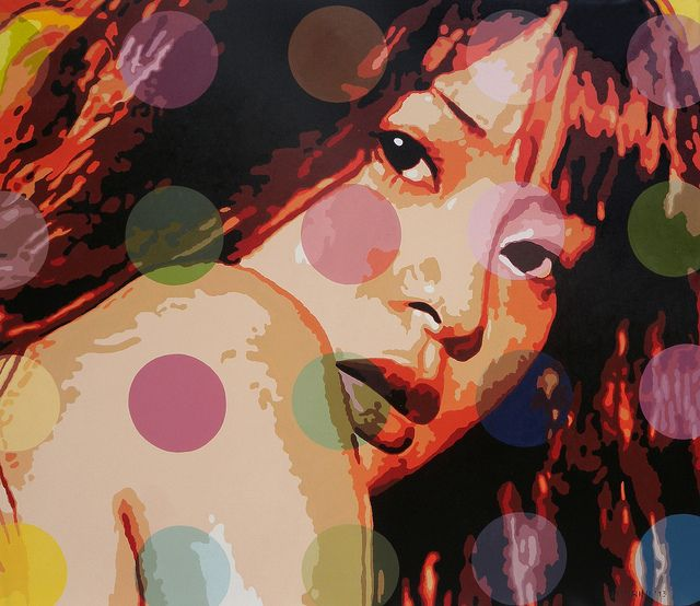 "Artist     Utin Rini  - ""Zeal"" - Acrylic on canvas  (130cm x 150cm)  2012    Artwork preview of the Affordable Art Fair in Singapore Nov 20 - 23, 2014. #art #artist #painter"