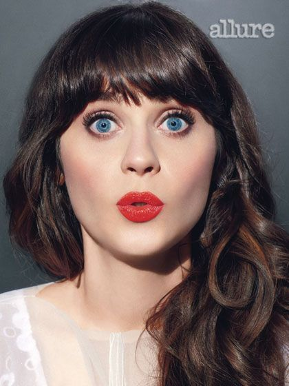 I love her an this photograph.    Zooey Deschanel: Her Allure Photo Shoot: Cover Shoot: allure.com