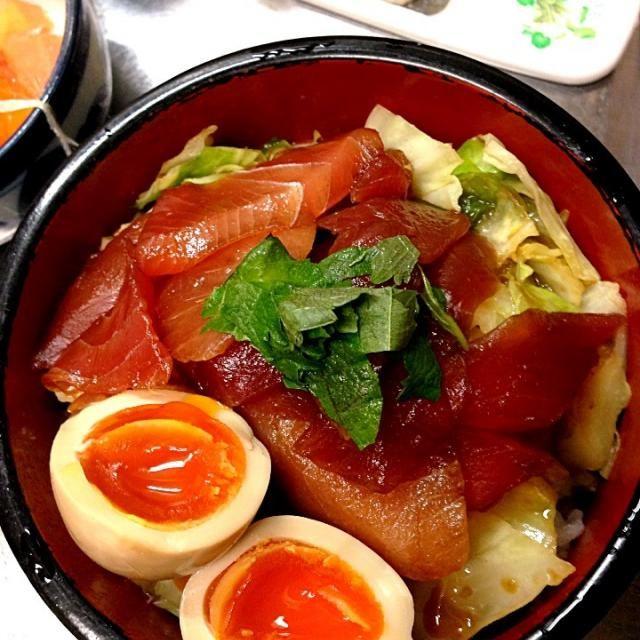 味付け玉子が美味しかったです笑 - 38件のもぐもぐ - マグロの漬け丼と味付け玉子 by 田中秀和
