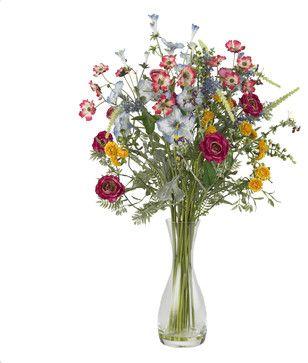 Veranda Garden Silk Flower Arrangement - transitional - Artificial Flower Arrangements - Nearly Natural
