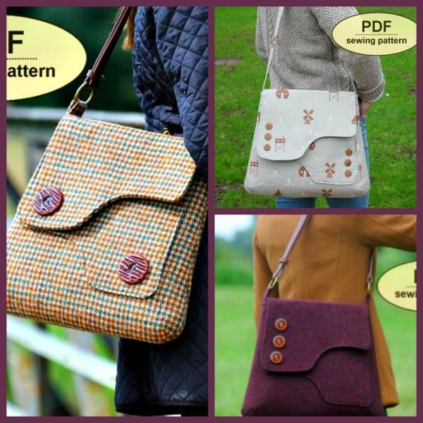 The Saxted Satchel - PDF Sewing Pattern + Basic Serging Tips and Tricks! Cute pattern