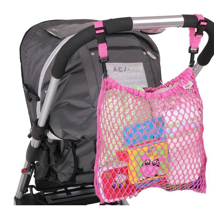 Villa-Sternenstaub   Kinderwagennetz pink   - Material: 100% Nylon - Maße: 30 x 30 cm - sehr robust und langlebig - äußerst praktisch und zaubert einen stilvollen Farbklecks auf Ihren Kinderwagen - Handwäsche