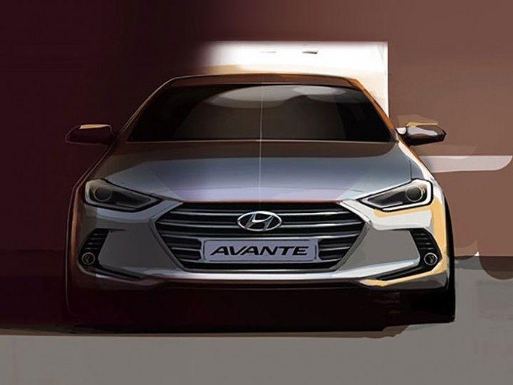 Hyundai previews new Elantra with design sketches