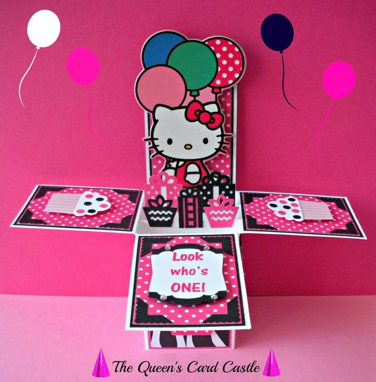Best Exploding Card Box Images On Pinterest Card Boxes Cards - Childrens birthday cards for the queen