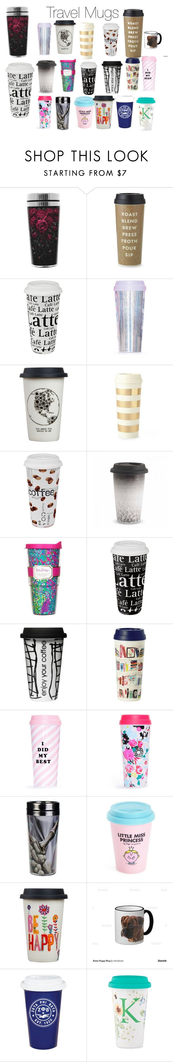 """Travel mugs love them and there is one mug only it was meant to be travel mug but it was adorable so I had to but it on there cause it was cute xxoxxoxxo "" by leahfrancesbest ❤ liked on Polyvore featuring beauty, Kate Spade, Könitz, ban.do, Natural Life, Wedgwood, Lilly Pulitzer, Dot & Bo, Wild & Wolf and Beta Fashion"