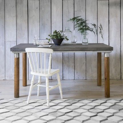 Barcelona 6 Seater Polished Concrete Dining Table in Grey