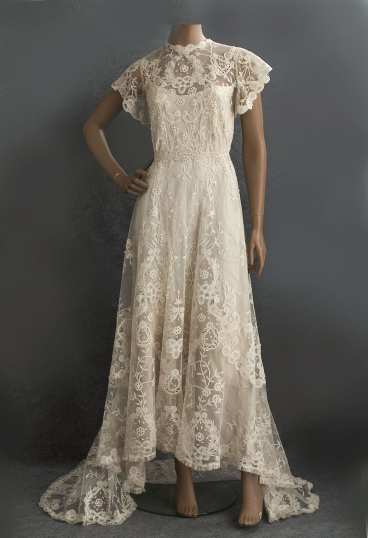 Princess lace wedding dress, c.1905