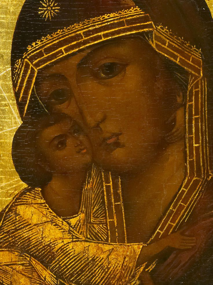The Virgin and Child 12th century | Virgin Fyodorovskaya | Fyodorovskaya Theotokos (Russian: Федоровская Богоматерь), also known as Our Lady of St. Theodore and the Black Virgin Mary of Russia is the patron icon of the Romanov family and one of the most venerated icons in the Upper Volga region. Her feast days are March 27 and August 29.
