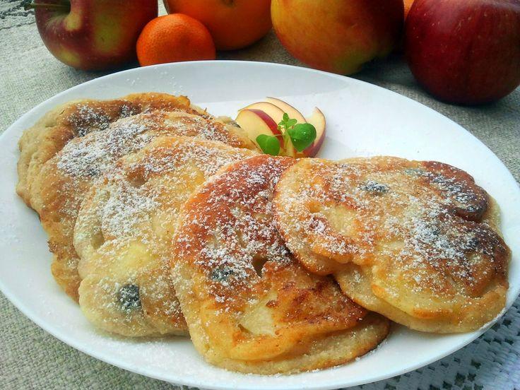 Domowa Cukierenka - Domowa Kuchnia: placuszki twarogowe z jabłkami i rodzynkami