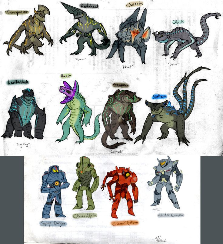 Pacific Rim - Kaiju Ask Blog version by RoFlo-Felorez.deviantart.com on @DeviantArt