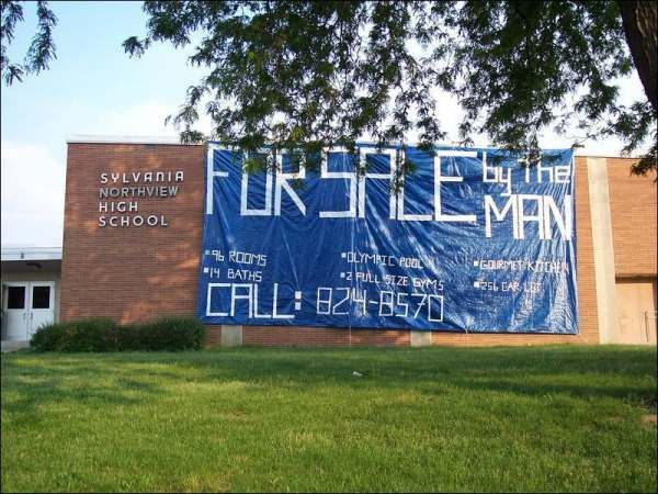 Sensational Senior Pranks. Some of these are funny, and some are not.