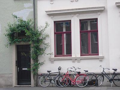 Altbau an der Kanalstraße. Kreuzviertel. Münster.